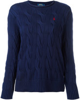 Polo Ralph Lauren cable knit jumper - women - Cotton - XS