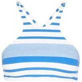 Vitamin A 'Cozumel' stripe high neck bikini top