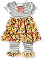 Bonnie Jean Bonnie Baby Baby Girls 12-24 Months Striped/Floral A-Line Dress & Matching Leggings Set