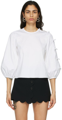 RED Valentino White Poplin Blouse