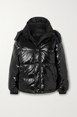 Ksubi Flashback Reversible Quilted Glossed-shell Down Jacket - Black