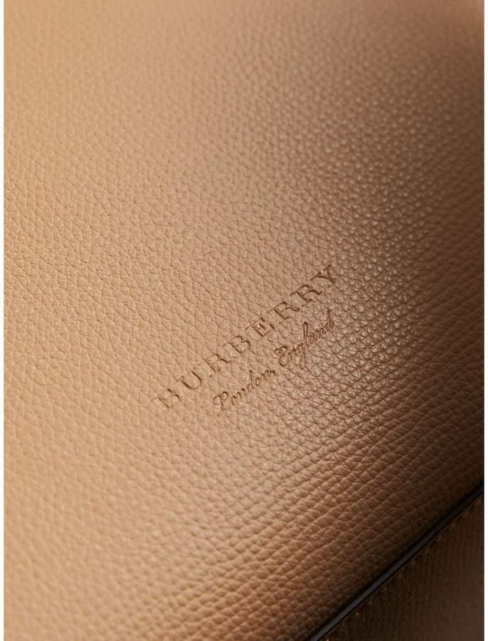 Burberry Medium Coated Leather Tote