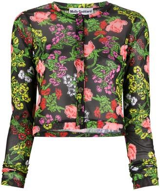 Molly Goddard Malina floral-intarsia cardigan