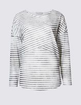 Marks and Spencer Striped Long Sleeve Jersey Top