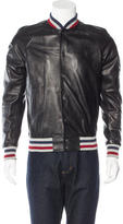 Palm Angels Striped Lambskin Jacket