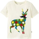 Stella McCartney Arlo Deer Paint Spaltter Tee (Toddler/Kid) - Cream-3