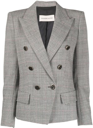 Alexandre Vauthier Double-Breasted Check Blazer
