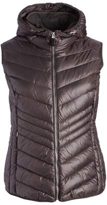 Andrew Marc Women's Non-Denim Casual Jackets ANTHRACITE - Anthracite Ruby Down Vest - Plus