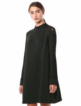 BCBGMAXAZRIA Women's Lace Paneled Dress