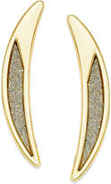 ABS by Allen Schwartz Gold-Tone Crescent Glitter Drop Earrings