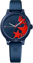 Tommy Hilfiger Women's Ashley Navy Silicone Strap Watch 38mm