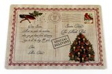 """Carnation Home Fashions Letter to Santa"""" Holiday Placemat, Set of 4"""