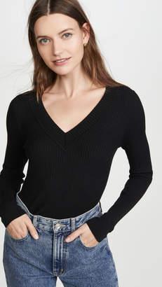 525 America Wide Rib V Neck Pullover
