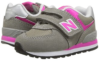 New Balance KX574v1I (Infant/Toddler) (Grey/Pink) Girls Shoes