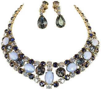One Kings Lane Vintage 1960s Juliana Sapphire Necklace Set - Neil Zevnik