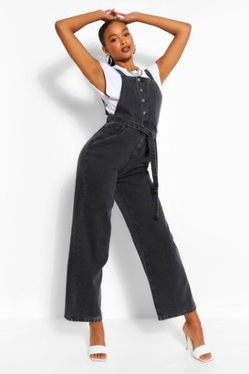 boohoo Denim Belted Overall