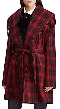 Ralph Lauren Ralph Plaid Wrap Coat