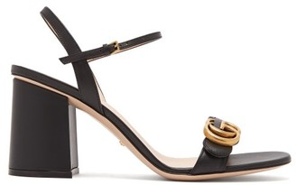 Gucci GG Marmont Block-heel Sandals - Black