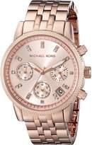 Michael Kors Women's MK6077 Ritz Analog Display Analog Quartz Rose Gold Watch