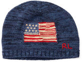 Ralph Lauren Flag Combed Cotton Beanie