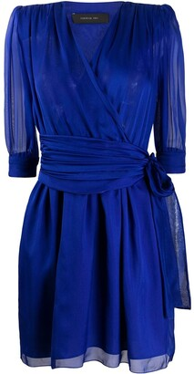 FEDERICA TOSI Chiffon Surplice Dress