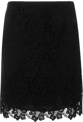 Givenchy Floral Lace Mini Skirt
