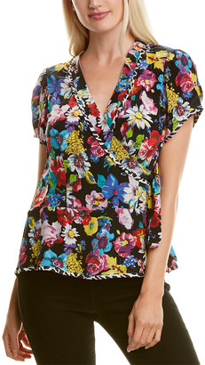 Nanette Lepore Bouquet Wrap Top