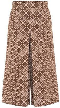 Gucci GG high-rise wide jacquard pants