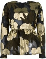 P.A.R.O.S.H. floral detail flared blouse