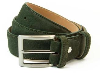 40 Colori Olive Green Trento Leather Belt