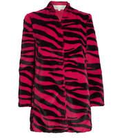 Mason by Michelle Mason Zebra-Printed Faux Fur Coat
