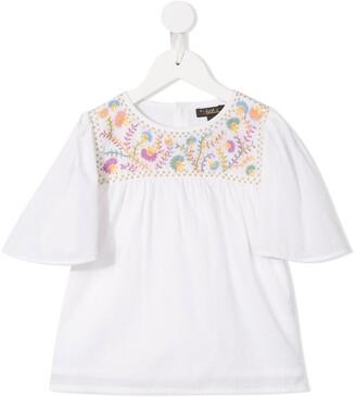 Velveteen yoked Asha blouse
