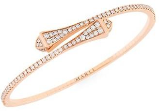 Marli Cleo By 18K Rose Gold & Diamond Bangle Bracelet