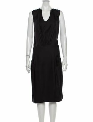Christian Lacroix Silk Midi Length Dress w/ Tags Black