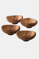 Nambe Set Of 4 Butterfly Salad Bowls