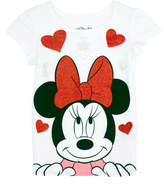 Freeze Minnie Mouse Sparkle Hearts Cap-Sleeve Tee - Infant & Girls