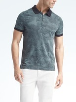 Banana Republic Luxury Touch Slim Print Polo