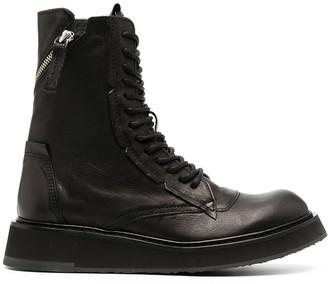 Cinzia Araia Lace-Up Leather Combat Boots