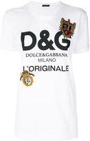 Dolce & Gabbana Royal appliqué patch logo T-shirt