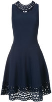 Milly flared cut out dress - women - Viscose/Polyester - L