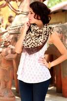 Wool scarf, 'Indian Leopard'