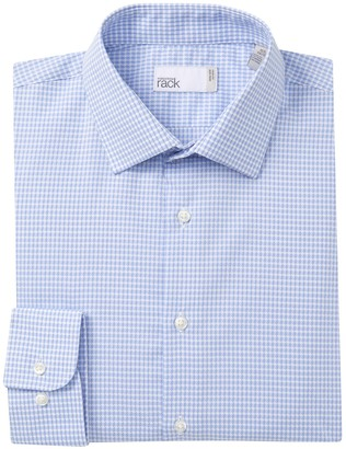 Report Collection Nordstrom Rack Textured Trim Fit Micro Gingham Dress Shirt