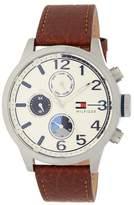 Tommy Hilfiger Men's Jackson Chronograph Leather Strap Watch, 44mm