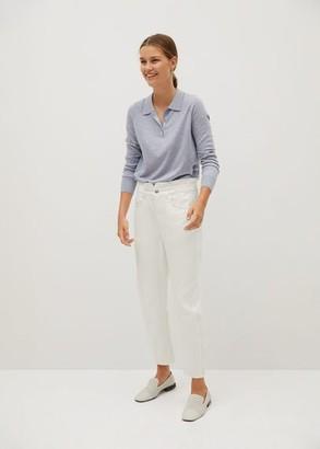 MANGO Waist straight Slouchy jeans white - 1 - Women