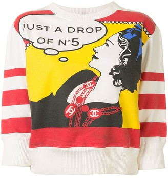 Chanel Pre Owned Coco Pop Art print sweatshirt