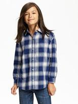 Old Navy Plaid Boyfriend Shirt for Girls