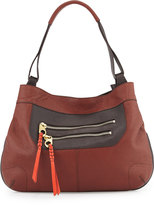 Oryany Sandy Leather Hobo Bag, Chestnut/Multi