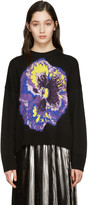 Christopher Kane Black Flower Sweater