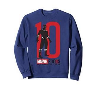 Marvel Studios 10 Years Black Panther Graphic Sweatshirt