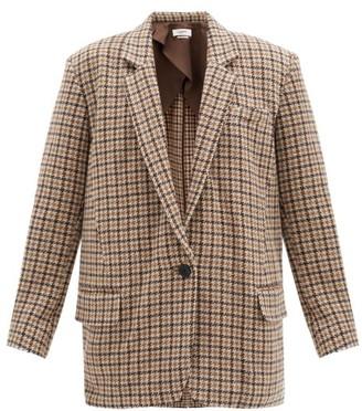 Etoile Isabel Marant Kaito Single-breasted Houndstooth Wool Jacket - Brown Multi